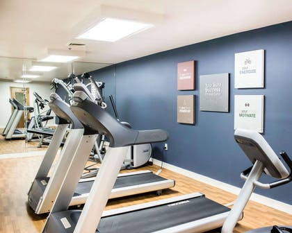 Fitness center with cardio equipment and weights   Comfort Suites Regency Park