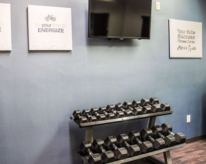 Fitness center with television | Comfort Suites University - Research Park