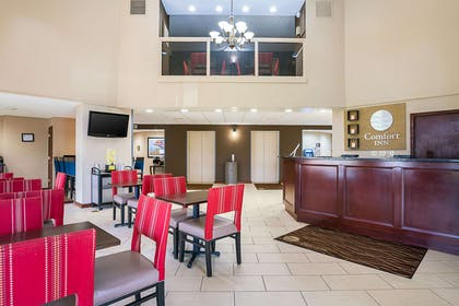 Spacious lobby with sitting area | Comfort Inn near Rocky Mount Sports Complex