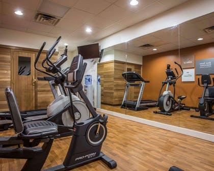 Fitness center with television   Comfort Suites Lumberton