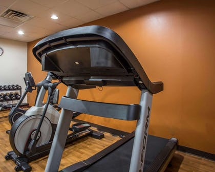 Fitness center with free weights   Comfort Suites Lumberton