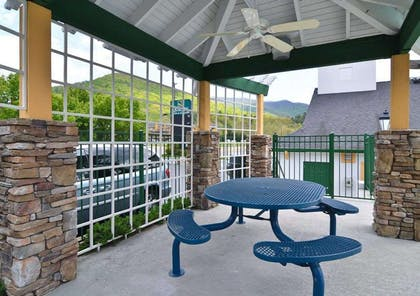 Relaxing patio area   Quality Inn & Suites Biltmore East