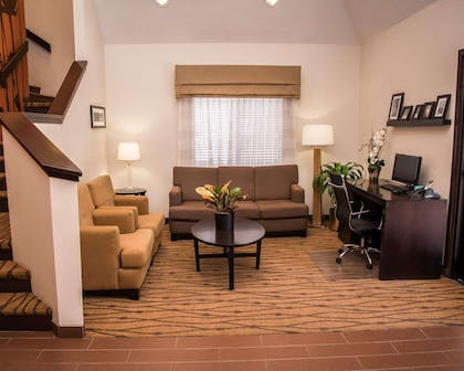 Spacious lobby with sitting area | Sleep Inn & Suites at Concord Mills