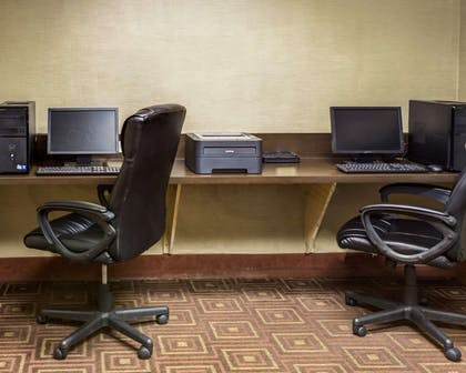 Business center with high-speed Internet access | Comfort Suites Airport