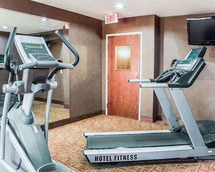 Fitness center with television | Quality Inn Raleigh Downtown