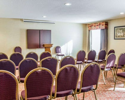Meeting room with theater-style setup | Quality Inn Raleigh Downtown