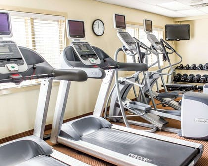 Fitness center with free weights   Comfort Inn Near Ft. Bragg