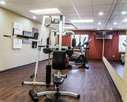 Fitness center with television | Comfort Suites Four Seasons