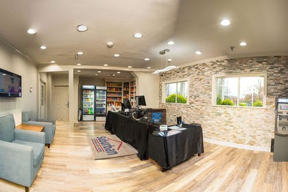 Lobby with sitting area | Suburban Extended Stay Hotel Charlotte-Ballantyne