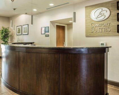 Front desk with friendly staff | Comfort Suites Lake Norman - Huntersville