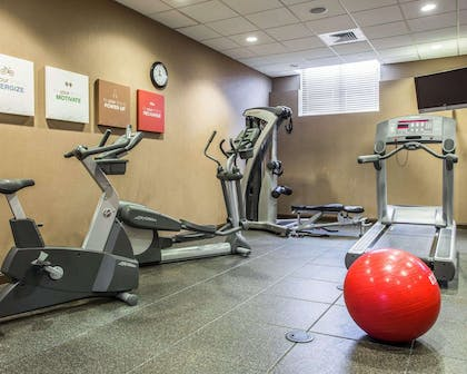 Fitness center with television | Comfort Suites Lake Norman - Huntersville