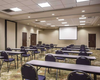 Meeting room with classroom-style setup | Comfort Suites Lake Norman - Huntersville