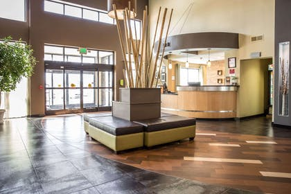 Spacious lobby with sitting area | Comfort Suites New Bern near Cherry Point