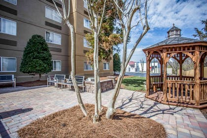 Relax on the hotel patio | Comfort Inn & Suites Kannapolis - Concord