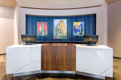 Front desk with friendly staff | Cambria Hotel Downtown Asheville
