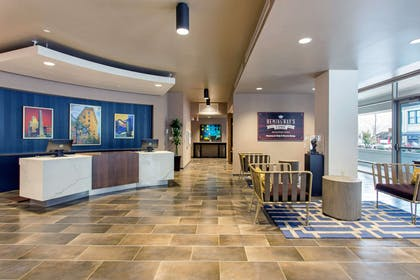 Spacious lobby with sitting area | Cambria Hotel Downtown Asheville