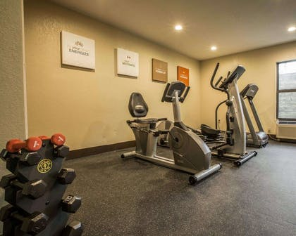Fitness center with free weights | Comfort Inn Biltmore West