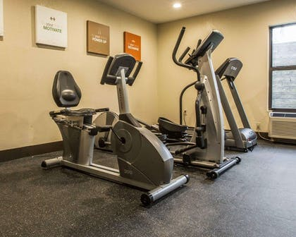 Fitness center with cardio equipment | Comfort Inn Biltmore West