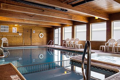 Indoor pool with hot tub | Mainstay Suites Fargo
