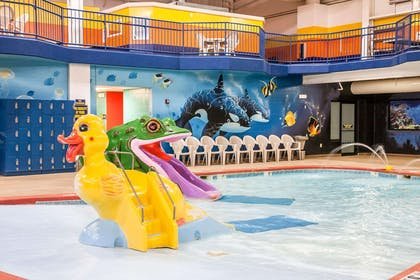 Indoor pool with children's pool | Sleep Inn & Suites Conference Center and Water Park