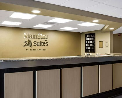 Front desk with friendly staff | Mainstay Suites