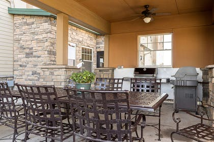 Enjoy the hotel patio | Mainstay Suites