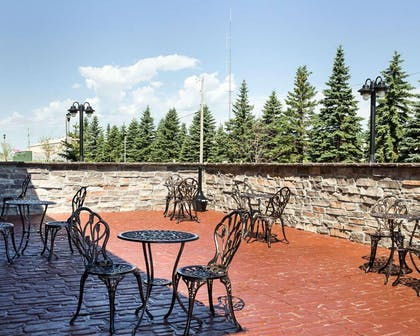 Relax on the hotel patio | Comfort Suites Minot