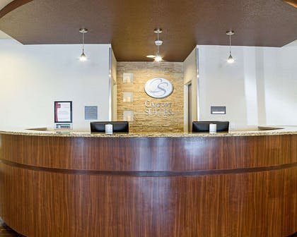 Front desk with friendly staff | Comfort Suites Minot