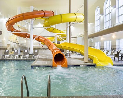 Indoor pool with water slide | Comfort Suites Minot