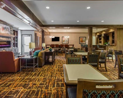 Breakfast area in the lobby | MainStay Suites Event Center