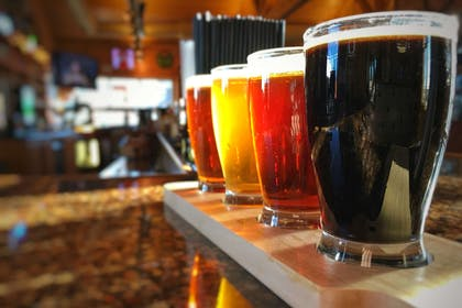 Flight of Divots handcrafted beers | Norfolk Lodge & Suites, an Ascend Hotel Collection Member