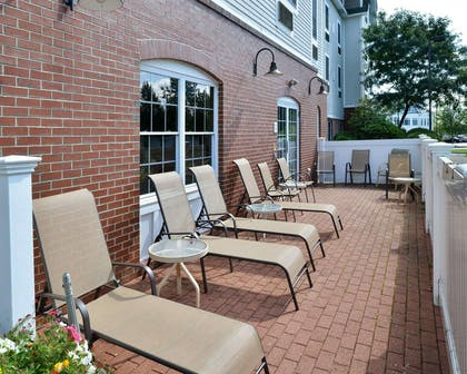 Relaxing patio area | Comfort Inn & Suites Dover-Portsmouth