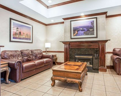 Lobby with fireplace | Comfort Inn And Suites