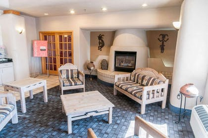 Spacious lobby with sitting area | Comfort Suites University Las Cruces