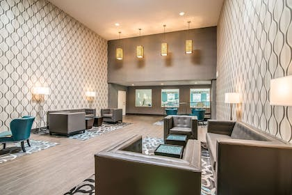 Spacious lobby with sitting area   Quality Inn & Suites - Ruidoso Hwy 70
