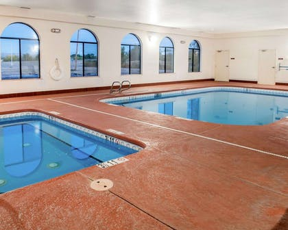 Indoor heated pool with hot tub   Comfort Inn And Suites