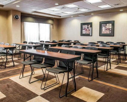 Meeting room with classroom-style setup | Comfort Suites Hobbs