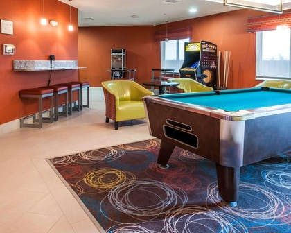 Game room with pool tables | Comfort Suites Hobbs
