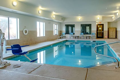 Indoor pool with hot tub | Sleep Inn & Suites