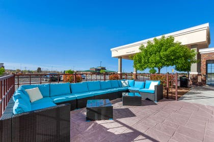 Relax on the hotel's patio | Comfort Suites Las Cruces I - 25 North
