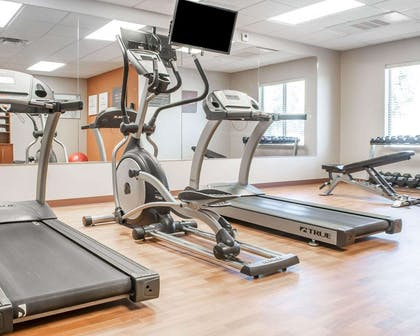 Fitness center with cardio equipment | Comfort Suites
