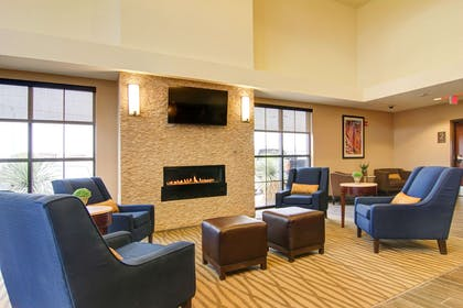 Lobby with fireplace | Comfort Suites Carlsbad