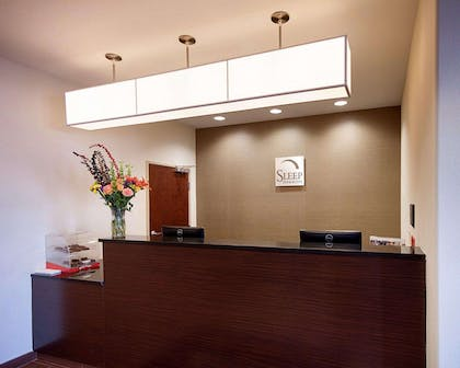 Front desk with friendly staff | Sleep Inn & Suites
