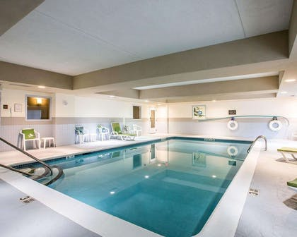 Indoor pool | Sleep Inn & Suites Queensbury - Glen Falls