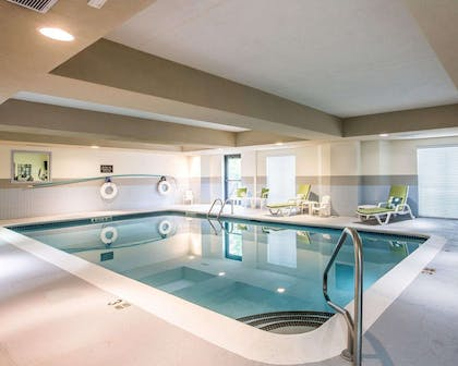 Indoor heated pool | Sleep Inn & Suites Queensbury - Glen Falls