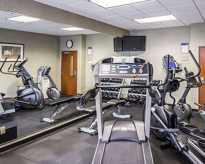 Fitness center with television | Quality Inn & Suites Fishkill South near I-84