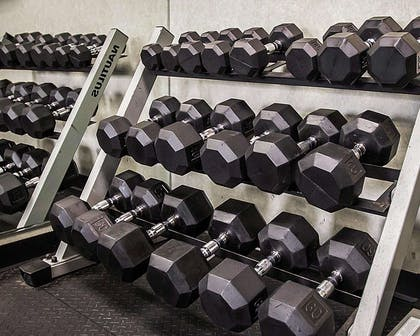 Fitness center with free weights | Quality Inn & Suites Fishkill South near I-84