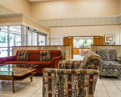 Spacious lobby with sitting area | Quality Inn & Suites Fishkill South near I-84