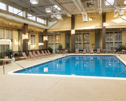 Indoor pool lounge area | Comfort Inn & Suites Airport