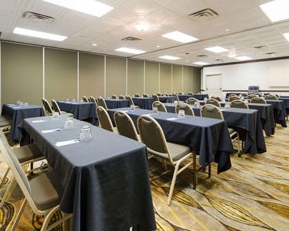 Meeting room with classroom-style setup | Comfort Inn & Suites Airport